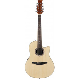 Applause AB2412II-4 Balladeer Mid Cutaway Natural Электроакустическая 12-струнная гитара