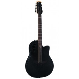 Ovation 2058TX-5 Elite T Deep Contour Cutaway 12-string Black textured электроакустическая гитара